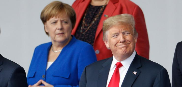 Otan : Trump assure avoir de «très bonnes relations» avec Merkel